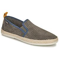 Schuhe Herren Leinen-Pantoletten mit gefloch Bamba By Victoria ANDRE ELASTICOS ANTELIN Grau