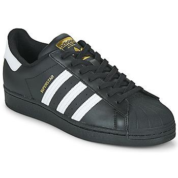 Schuhe Sneaker Low adidas Originals SUPERSTAR Schwarz / Weiss