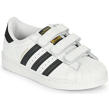 Schuhe Kinder Sneaker Low adidas Originals SUPERSTAR CF C Weiss / Schwarz
