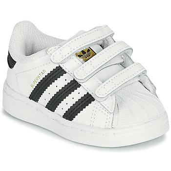 Schuhe Kinder Sneaker Low adidas Originals SUPERSTAR CF I Weiss / Schwarz