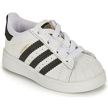 Schuhe Kinder Sneaker Low adidas Originals SUPERSTAR EL I Weiss / Schwarz