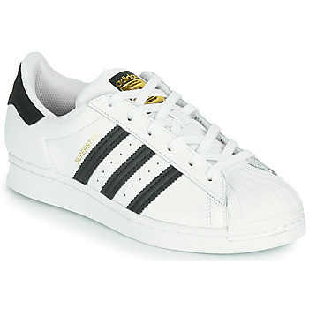 Schuhe Kinder Sneaker Low adidas Originals SUPERSTAR J Weiss / Schwarz