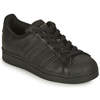 Schuhe Kinder Sneaker Low adidas Originals SUPERSTAR J Schwarz
