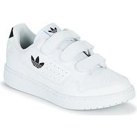 Schuhe Kinder Sneaker Low adidas Originals NY 92  CF C Weiss / Schwarz