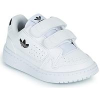 Schuhe Kinder Sneaker Low adidas Originals NY 92 CF I Weiss / Schwarz