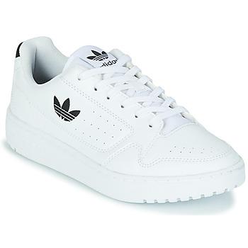 Schuhe Kinder Sneaker Low adidas Originals NY 92 J Weiss / Schwarz