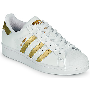 Schuhe Damen Sneaker Low adidas Originals SUPERSTAR W Weiss / Gold