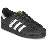 Schuhe Kinder Sneaker Low adidas Originals SUPERSTAR C Schwarz / Weiss
