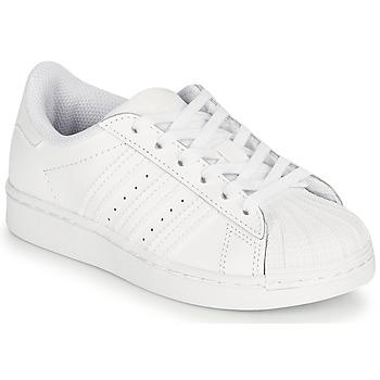Schuhe Kinder Sneaker Low adidas Originals SUPERSTAR C Weiss