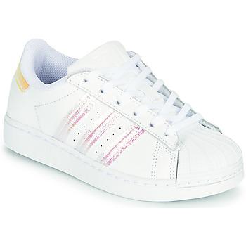 Schuhe Mädchen Sneaker Low adidas Originals SUPERSTAR C Weiss