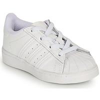 Schuhe Mädchen Sneaker Low adidas Originals SUPERSTAR EL I Weiss