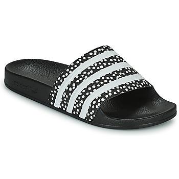 Schuhe Damen Pantoletten adidas Originals ADILETTE W Schwarz / Weiss