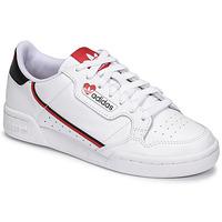 Schuhe Damen Sneaker Low adidas Originals CONTINENTAL 80 Weiss / Rot