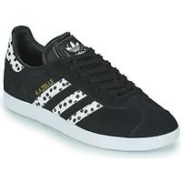 Schuhe Damen Sneaker Low adidas Originals GAZELLE W Schwarz / Weiss