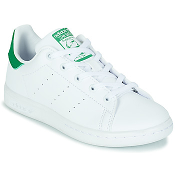 Schuhe Kinder Sneaker Low adidas Originals STAN SMITH C SUSTAINABLE Weiss / Grün