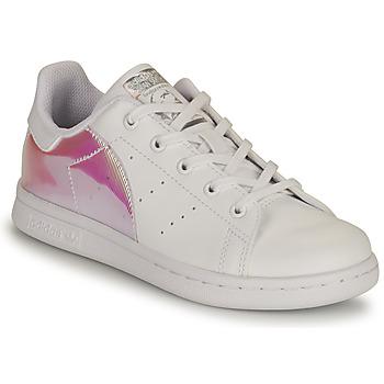 Schuhe Mädchen Sneaker Low adidas Originals STAN SMITH C SUSTAINABLE Weiss / Rose