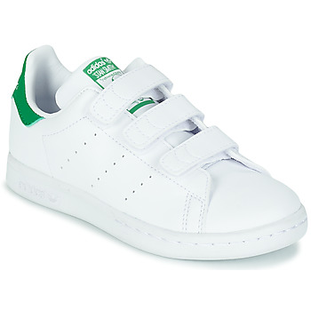 Schuhe Kinder Sneaker Low adidas Originals STAN SMITH CF C SUSTAINABLE Weiss / Grün