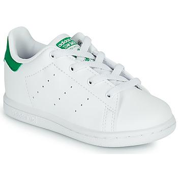 Schuhe Kinder Sneaker Low adidas Originals STAN SMITH EL I SUSTAINABLE Weiss / Grün