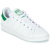 Schuhe Kinder Sneaker Low adidas Originals STAN SMITH J SUSTAINABLE Weiss / Grün