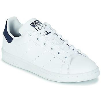 Schuhe Kinder Sneaker Low adidas Originals STAN SMITH J SUSTAINABLE Weiss / Marine