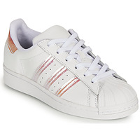Schuhe Mädchen Sneaker Low adidas Originals SUPERSTAR J Weiss