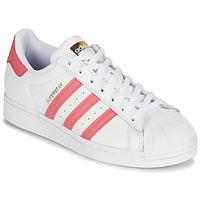 Schuhe Damen Sneaker Low adidas Originals SUPERSTAR W Weiss / Rose