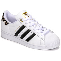 Schuhe Damen Sneaker Low adidas Originals SUPERSTAR W Weiss / Leopard