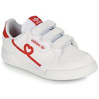 Schuhe Mädchen Sneaker Low adidas Originals CONTINENTAL 80 CF C Weiss / Rot