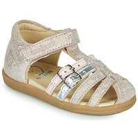 Schuhe Mädchen Sandalen / Sandaletten Shoo Pom PIKA SPART Beige / Silbern