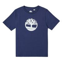 Kleidung Jungen T-Shirts Timberland TRISTA Blau