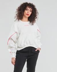 Kleidung Damen Sweatshirts Converse BLOCKED ALTERRAIN CREW Weiss