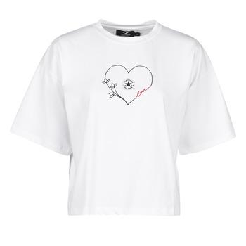 Kleidung Damen T-Shirts Converse CHUCK WOMENS LOVE BOXY TEE Weiss