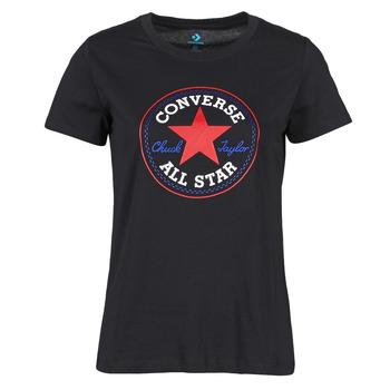 Kleidung Damen T-Shirts Converse CHUCK PATCH NOVA TEE Schwarz