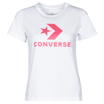 Kleidung Damen T-Shirts Converse STAR CHEVRON CENTER FRONT TEE Weiss