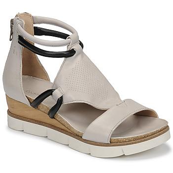Schuhe Damen Sandalen / Sandaletten Dream in Green LIRABIEN Silbern