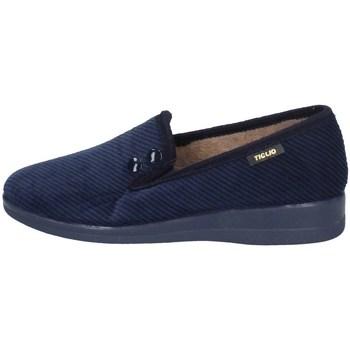 Schuhe Damen Pantoffel Tiglio 1570 BLAU