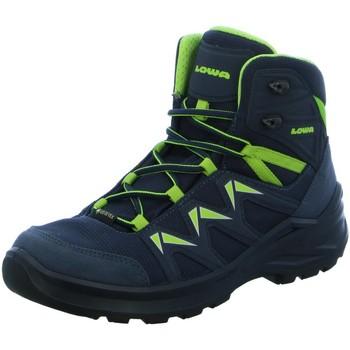 Schuhe Jungen Wanderschuhe Lowa Bergschuhe Boots knöchlhoch Gore 650116-9701 Innox Pro GTX Mid blau