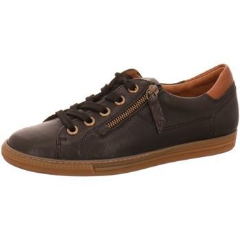 Schuhe Damen Derby-Schuhe Paul Green Schnuerschuhe Sneaker 69135 schwarz