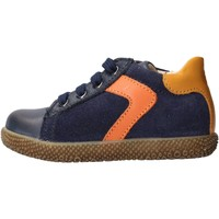 Schuhe Jungen Sneaker Low Falcotto - Polacchino blu/arancione MISU-1C25 BLU