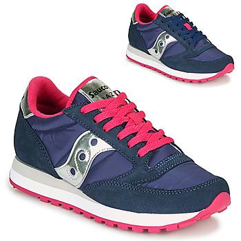 Schuhe Damen Sneaker Low Saucony JAZZ ORIGINAL Blau / Rose