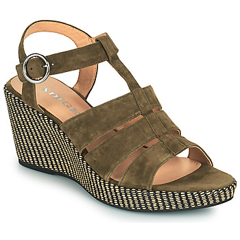 Schuhe Damen Sandalen / Sandaletten Adige FLORY V5 VELOURS MILITAIRE Kaki