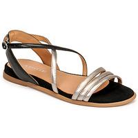 Schuhe Damen Sandalen / Sandaletten Adige IDIL V2 CENTURY ACERO Silbern