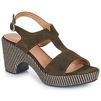 Schuhe Damen Sandalen / Sandaletten Adige ROMA V5 VELOURS MILITAR Kaki
