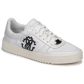 Schuhe Herren Sneaker Low Roberto Cavalli GEL Weiss