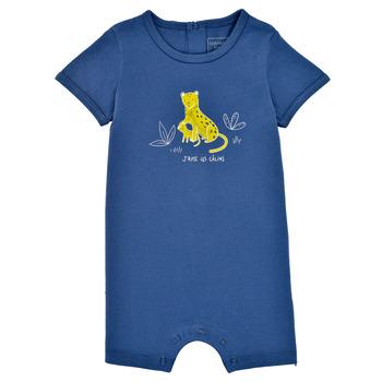 Kleidung Jungen Overalls / Latzhosen Carrément Beau Y94205-827 Blau