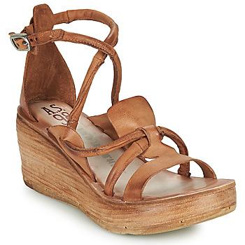 Schuhe Damen Sandalen / Sandaletten Airstep / A.S.98 NOA STRAP Camel
