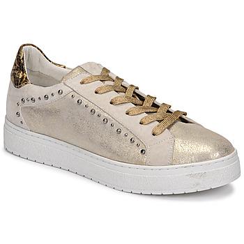Schuhe Damen Sneaker Low Regard HAVRES Gold