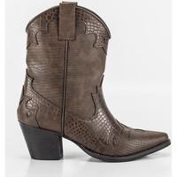 Schuhe Damen Low Boots Corina A2812 Marron
