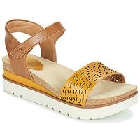 Schuhe Damen Sandalen / Sandaletten Josef Seibel CLEA 09 Braun / Gelb