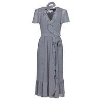 Kleidung Damen Maxikleider MICHAEL Michael Kors MINI BICOLR 60S FLRL DRS Blau